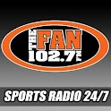 102.7 The Fan logo