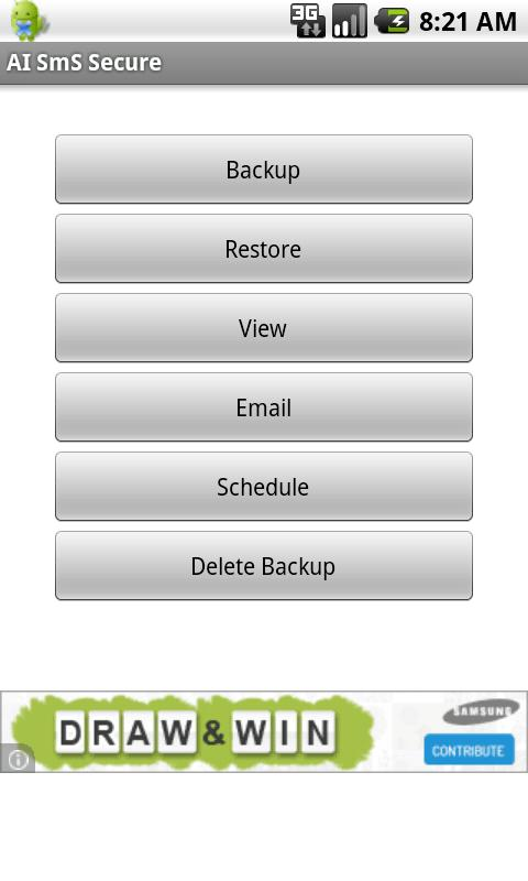 SMS Backup Scheduler & Restore - screenshot