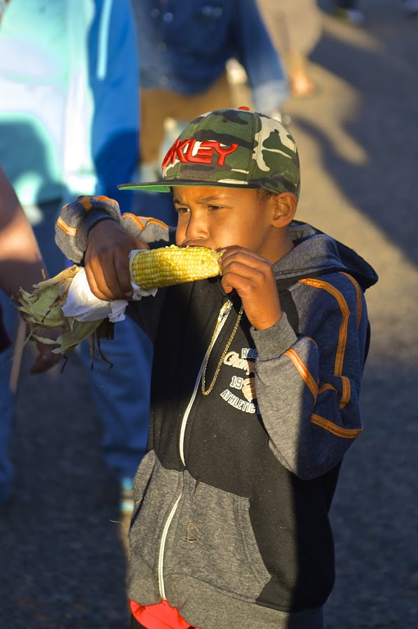 That's Good Stuff by Roy Walter - Babies & Children Children Candids ( children candid, corn on the cob, children, county fair )
