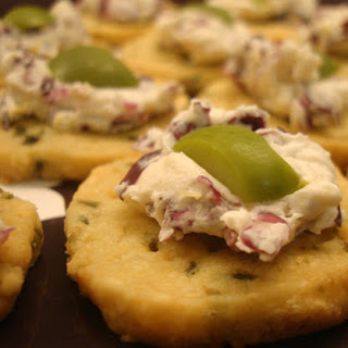 Manchego Olive Crackers with Creamy Radicchio Spread Recipe