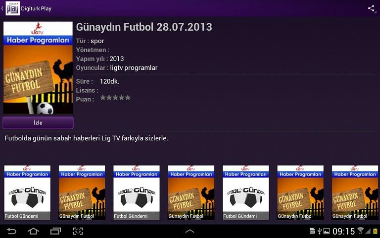 Digiturk Play Yurtdışı - screenshot