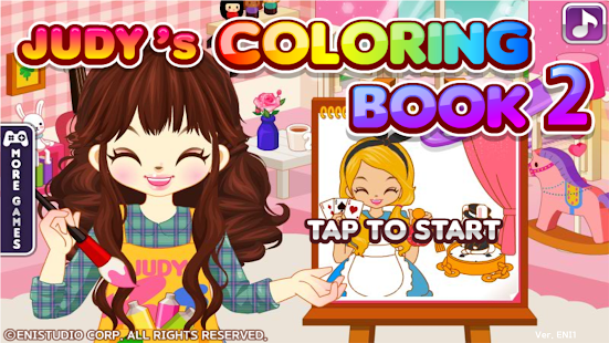 Judy's Coloring Book2-GirlGame
