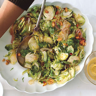 Shaved Brussels Sprout and Shallot Sauté