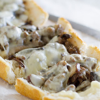 French Bread Pizza with Sausage and Portobello Mushrooms