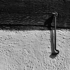 The hook. by Astrid Panitz - Black & White Abstract