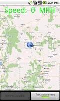 Screenshot of GPS Location