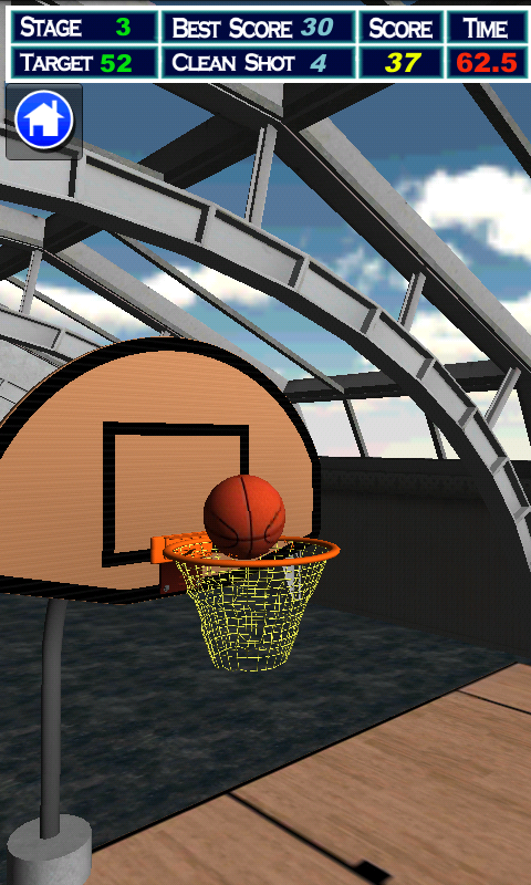 Drag Basketball - screenshot
