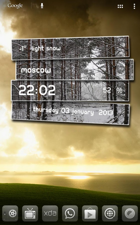 Weather Labels UCCW Skin - screenshot