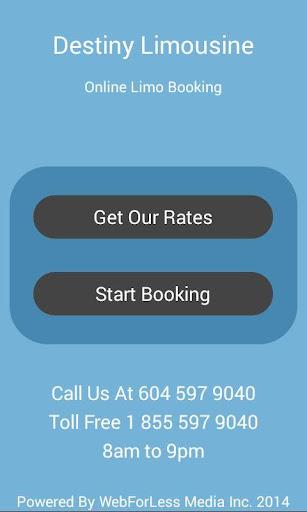 【免費交通運輸App】Destiny Limousine Booking App-APP點子