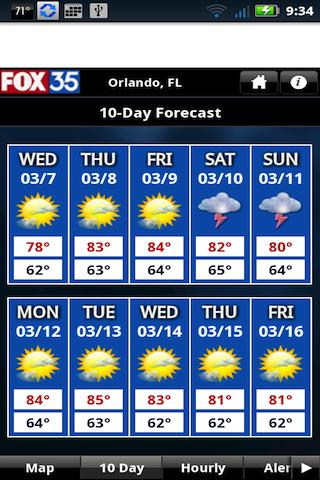 FOX35 Weather - screenshot