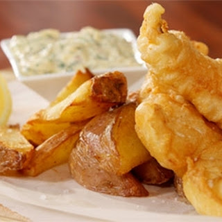 Wasabi Beer Battered Fish and Potato Wedges Recipe