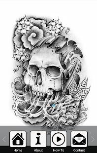 繪製TATTO頭骨