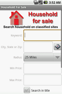 Household Items For Sale - screenshot thumbnail