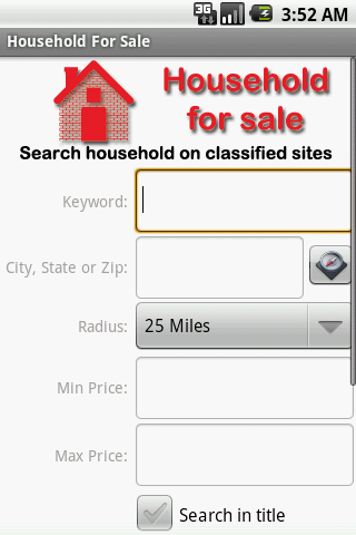 Household Items For Sale - screenshot