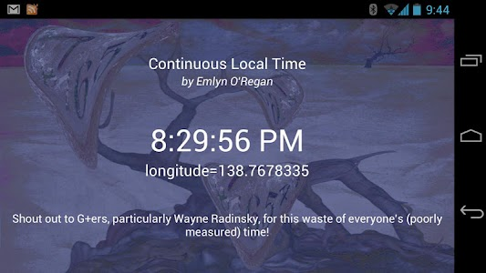 Continuous Local Time screenshot 0