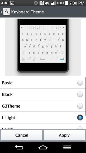 L-Light Keyboard LG THEME