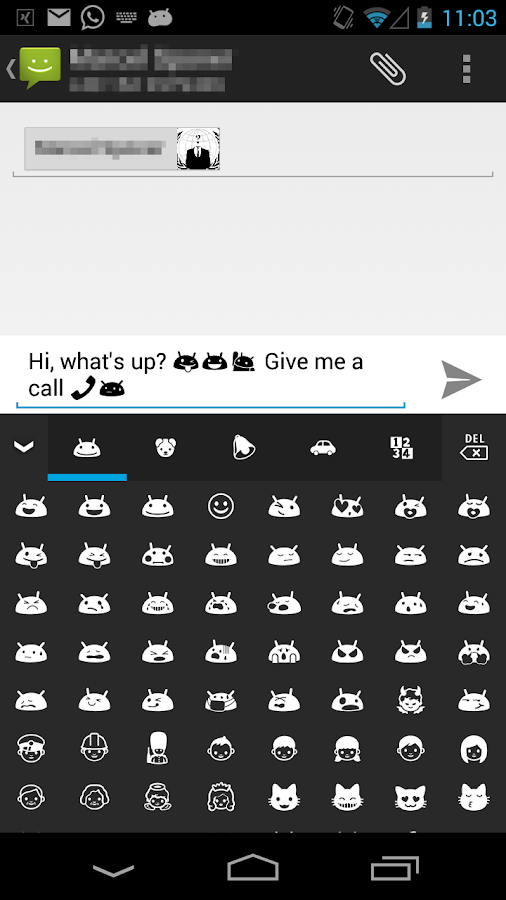 Pure Android Emoji Keyboard - screenshot