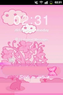 GO Locker Theme Pink Rabbit- screenshot thumbnail