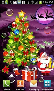 Santa Xmas Bubble Gifts HQ LWP - screenshot thumbnail