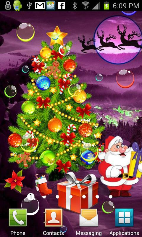 Santa Xmas Bubble Gifts HQ LWP - screenshot