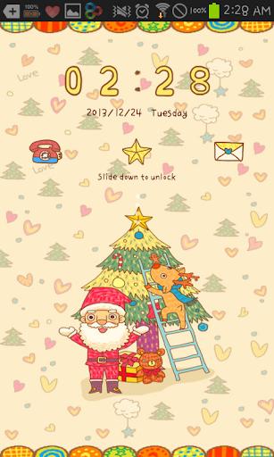 Cozy Santa go locker theme