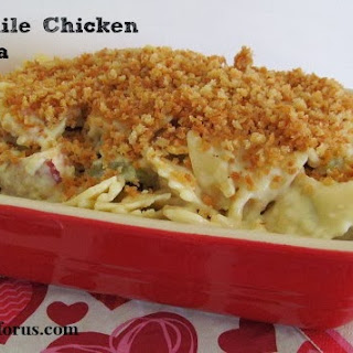 Green Chile and Chicken Carbonara