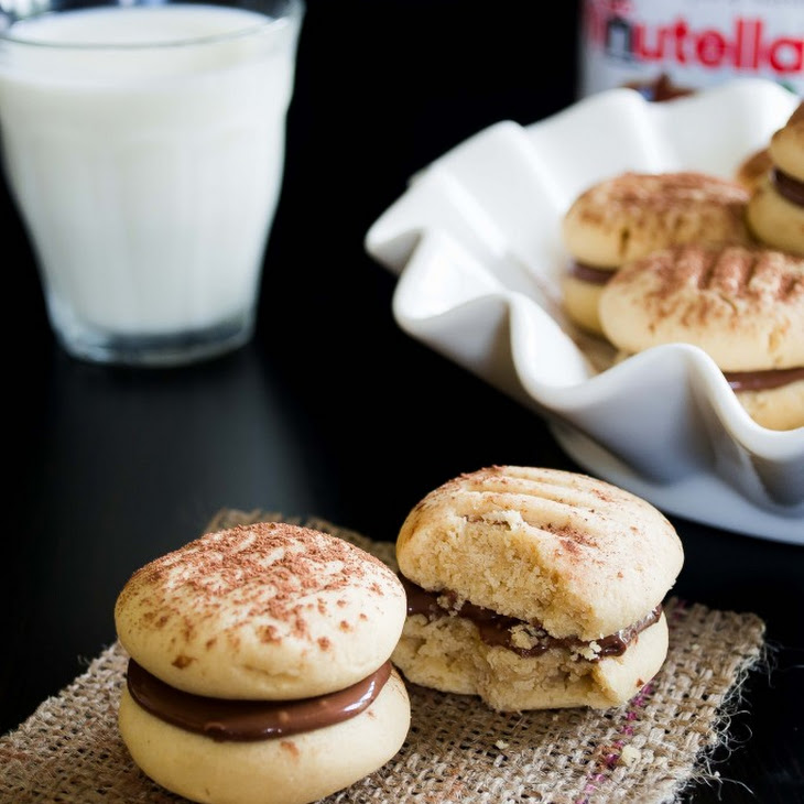 Creamy Peanut Butter and Nutella Melting Moments