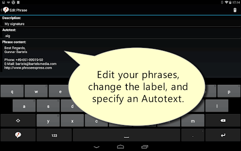 Autotext PhraseExpress Screenshot 5