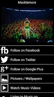 Macklemore Fan App and More