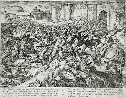 Dutch Soldiers Return from Germany to Aid Civilis Defeat the Romans