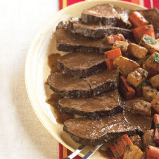 Red Wine Brasato with Glazed Root Vegetables