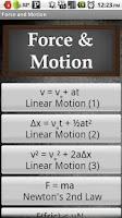 Screenshot of Force & Motion
