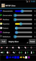 Screenshot of WFRP Dice