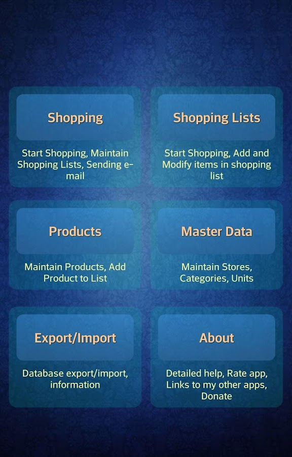 Easy Android Shopping List - screenshot