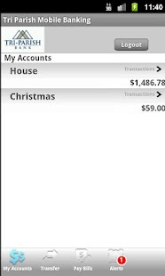 Tri Parish Mobile Banking - screenshot thumbnail