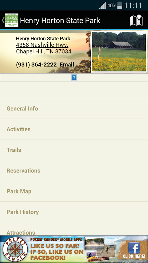 TN State Parks Outdoor Guide- screenshot