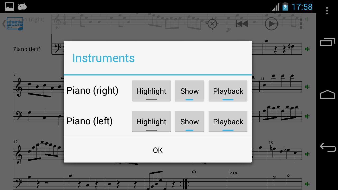 PhonicScore lite- screenshot