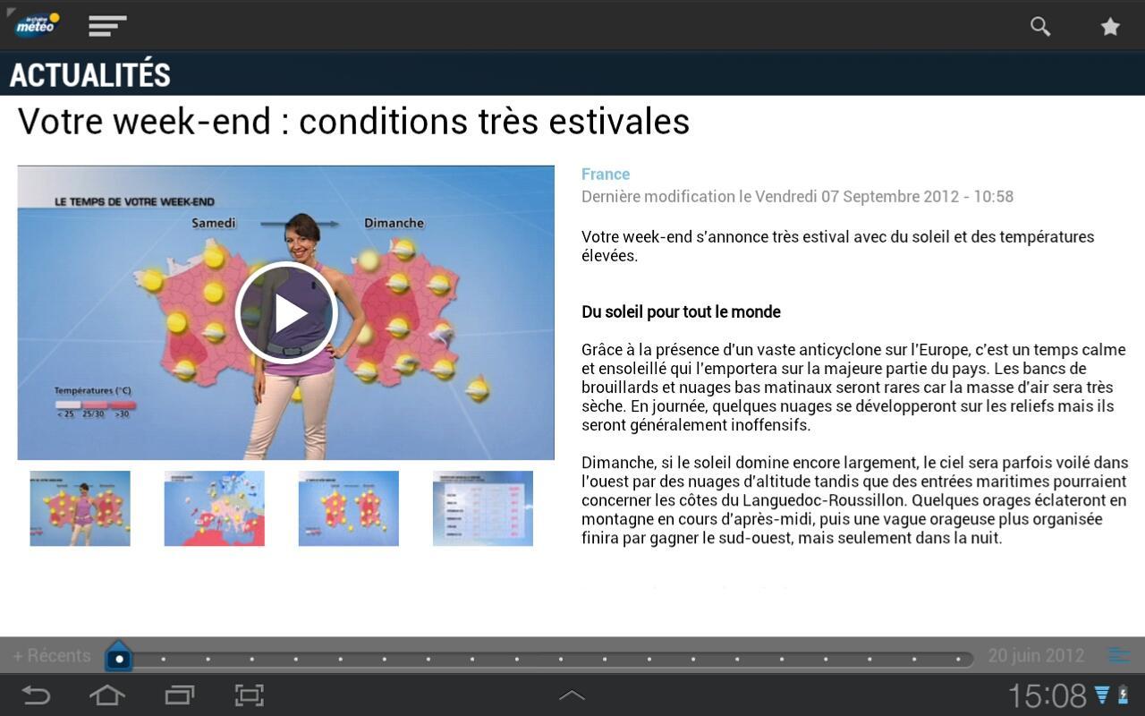 La chaine météo pour tablette- screenshot