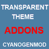 CM11 Transparent theme Addons