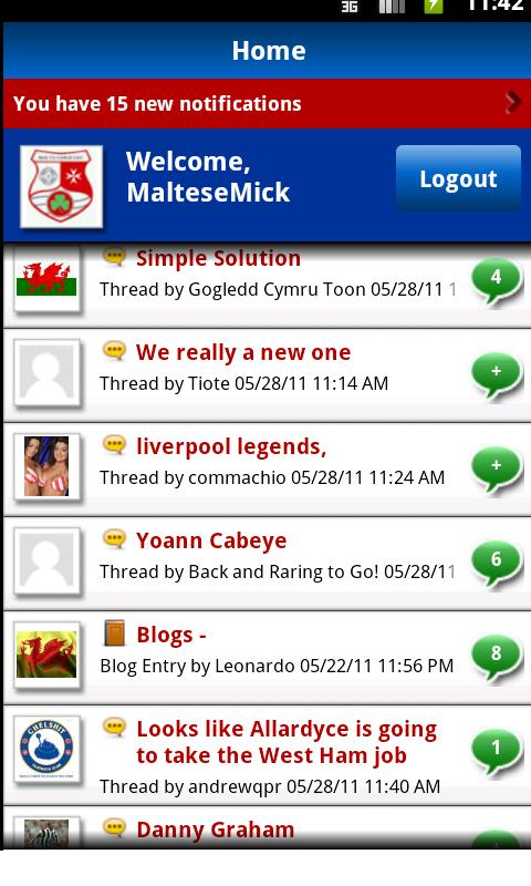Not 606 Football & Sport Forum - screenshot