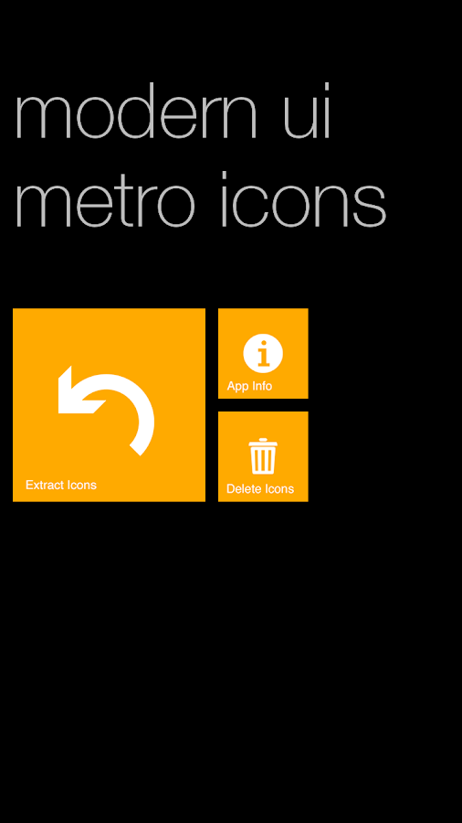 Modern UI Metro Icons - screenshot