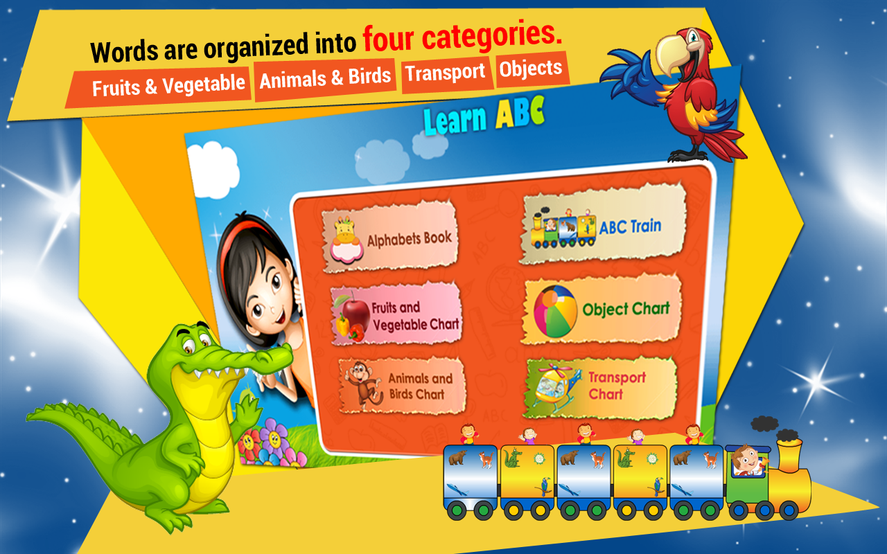 Kids Learn ABC Train & Chart- screenshot