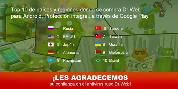 Anti-virus Dr.Web Light: miniatura de captura de pantalla