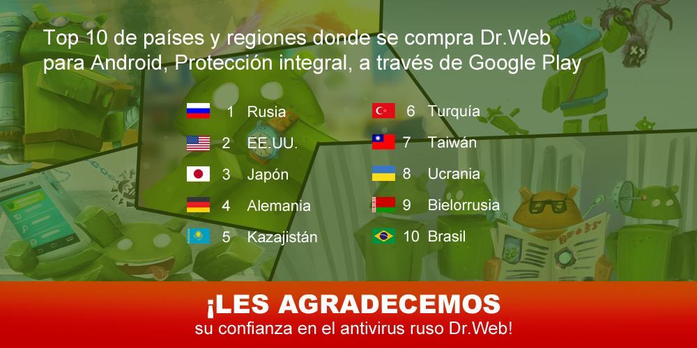 Anti-virus Dr.Web Light: captura de pantalla
