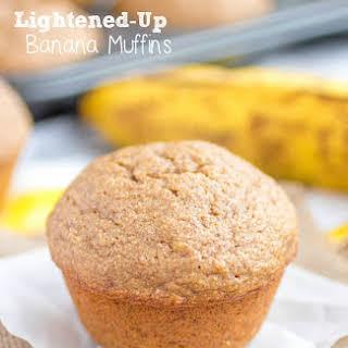 Lightened-Up Banana Muffins.