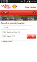Screenshot of Coles Express