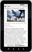 Screenshot of NYTimes app for tablet