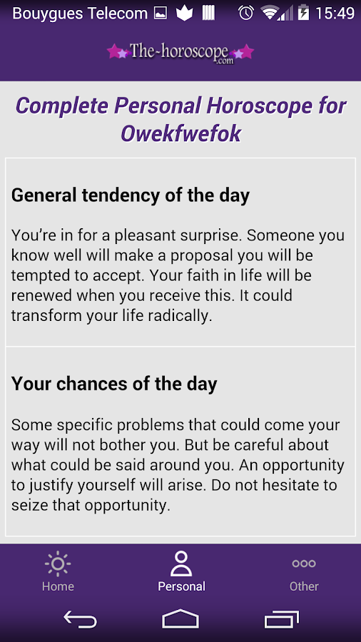 The FREE daily Horoscope- screenshot