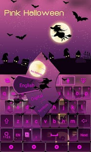 Pink-Halloween-Keyboard-Theme 2