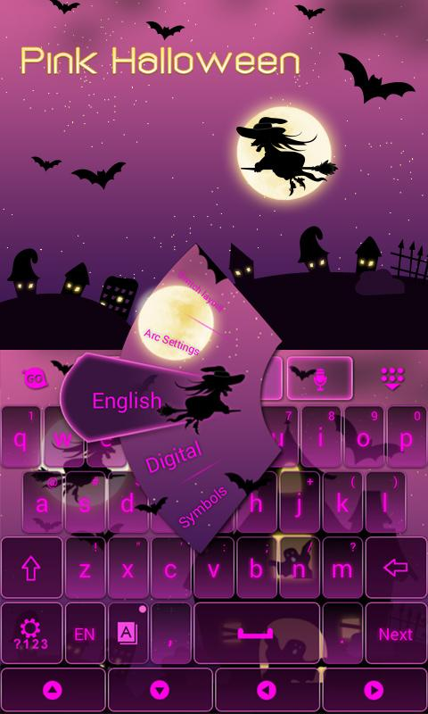 Pink-Halloween-Keyboard-Theme 8